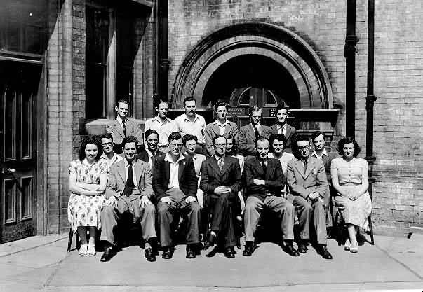 A group photograph of the Cambridge staff who worked on EDSAC